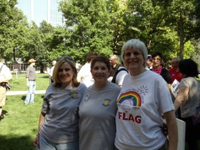 PFLAG Members Jan Nichols, Annette Gross, Judi Egbert